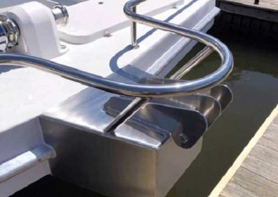 Stainless Steel Bow Rail for Houseboat
